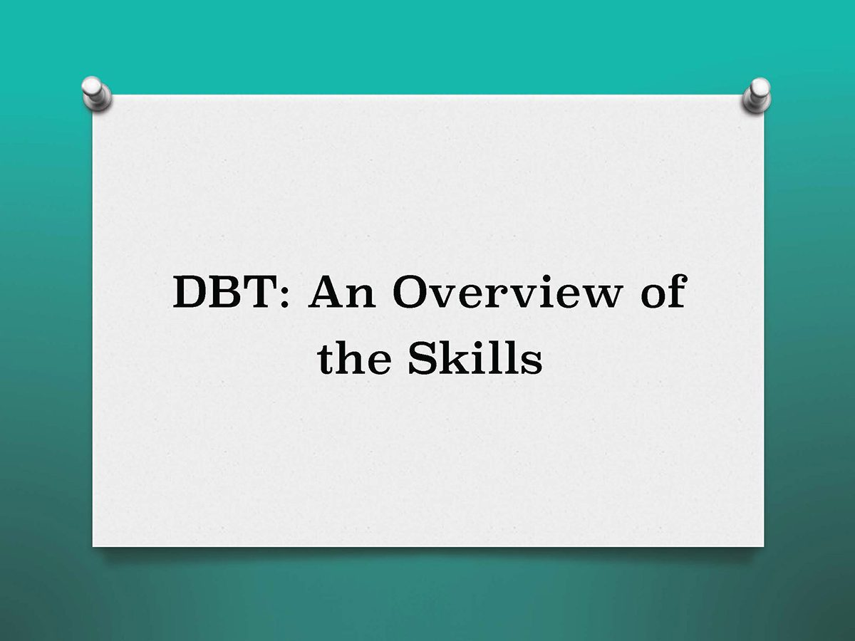 DBT Overview Training