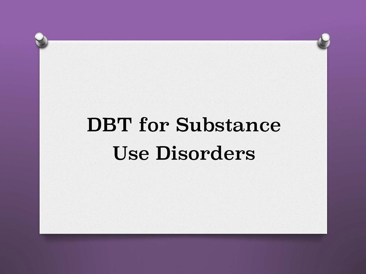 DBT Substance Use Disorders Training